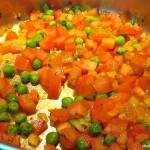Torta com tofu e legumes