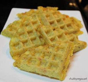Waffle po de queijo vegan