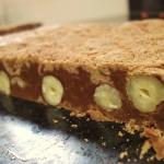 Fudge de avelã e chocolate