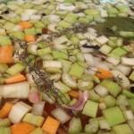 Fundo de legumes