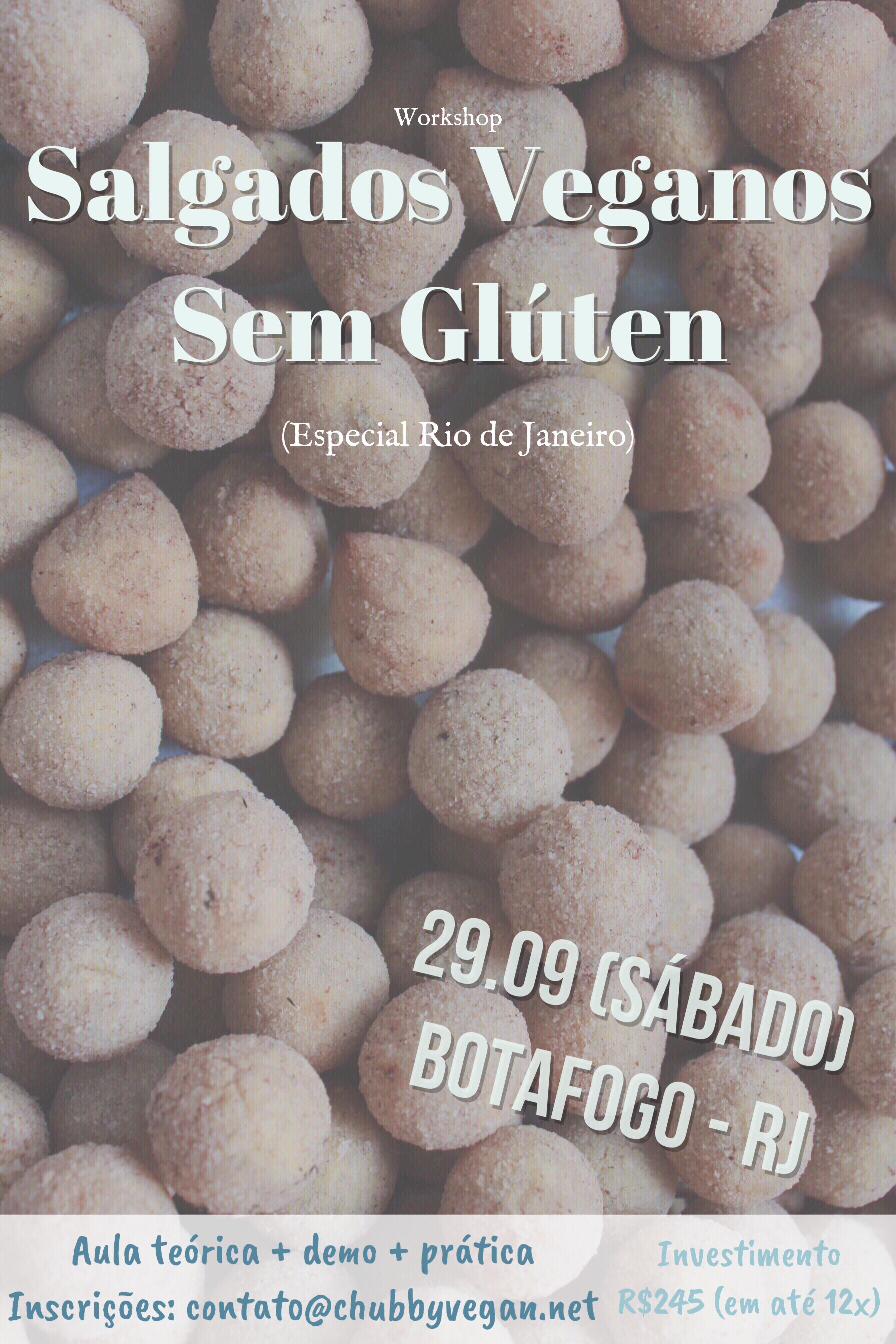 Workshop - Salgados Veganos sem glúten RJ